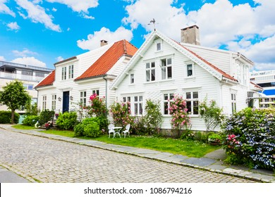 Traditional wooden houses in Gamle Stavanger. Gamle Stavanger is a historic area of the city of Stavanger in Rogaland, Norway.