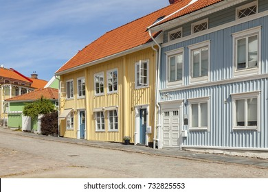 Traditional wooden houses on the island of Marstrand, Sweden