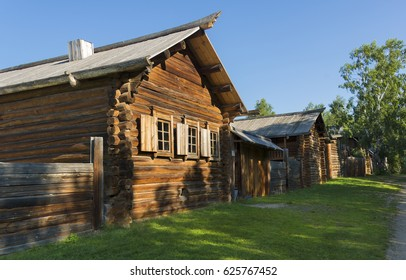 Traditional wooden village of Siberia