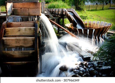 Traditional wooden whirlpool