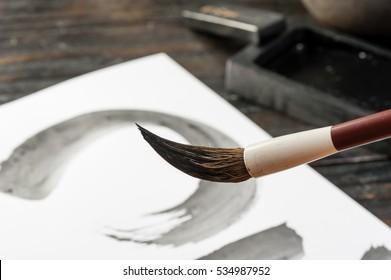 traditional writing brush, Japanese writing brush, Chinese writing brush