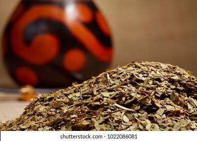 Traditional yerba mate tea popular in latin america