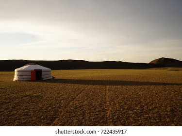 Traditional yurt in Gobi desert, Mongolia