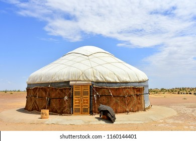 traditional yurt housing in Uzbekistan
