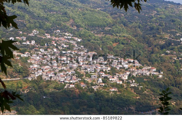 Traditional Zagora village located at the mountain of Pelion in Greece