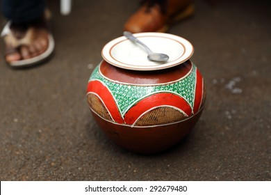 Traditional Zulu beer pot
