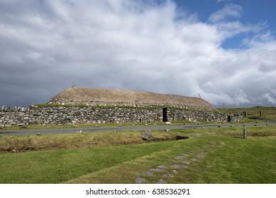 Traditionally built Black house, Isle of Lewis, Scotland