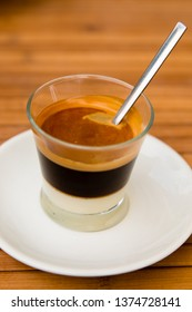 Traditionally, Cafe Bombon is a type of coffee drink that includes espresso mixed with sweetened condensed milk in a one-to-one proportion. It traces its roots from Valencia, Spain.