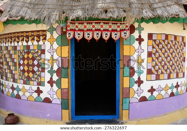 Traditionally Decorated Hut Tribal Village On Stock Photo (Edit Now) 276322697
