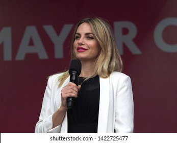 Trafalgar Square, London – 08th June 2019 – Co Presenter: Dr Myriam François On Stage At The Eid In The Square Celebration