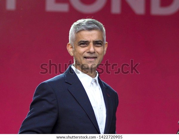 Trafalgar Square, London – 08th June 2019 – Special Guest, The Mayor Of London, Mr Sadiq Khan, On Stage At The Eid In The Square Event In Central London
