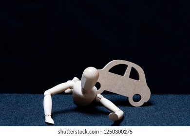 Traffic accident with people