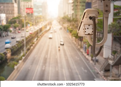 Traffic camera observes vehicular traffic on a road