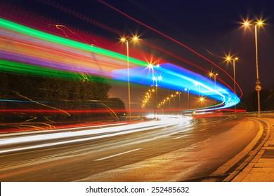 traffic in city on bridge