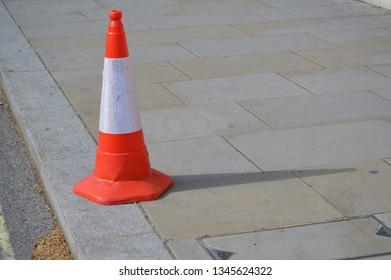 traffic cone on street