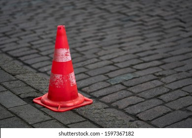 Traffic cone for road works. - Shutterstock ID 1597367182