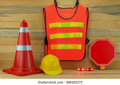 Traffic cones protective cap , traffic clothing and traffic Signs.
