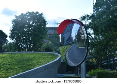 Traffic convex mirror , Safty wide angle lens at road