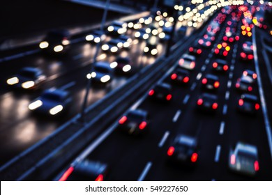 Traffic in evening time