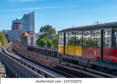 traffic historical day in Hamburg