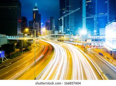 Traffic in Hong Kong city