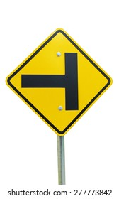 Traffic Intersection sign on isolated white