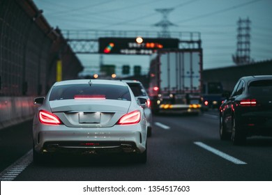 Traffic jam and car