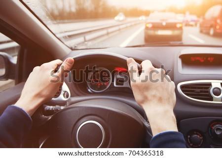 traffic jam driving car