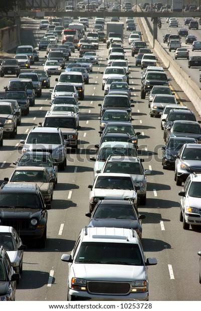 Traffic jam in Los Angeles