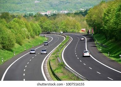 Traffic jam on German highway