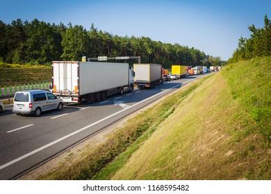 Traffic jam on motorway