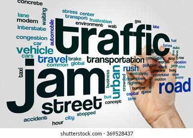Traffic jam word cloud