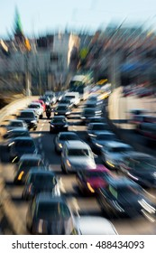 Traffic jams in the city