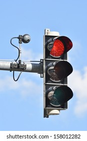 Traffic light with camera for traffic control