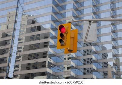 Traffic light, city centre