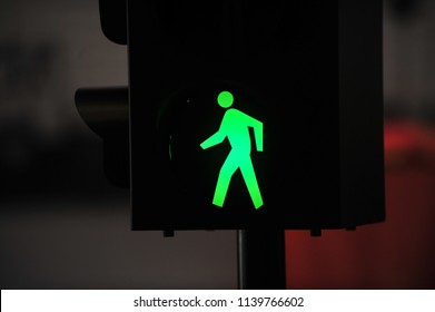 traffic light with green light and safe to move ( Pedestrian Traffic Lights )