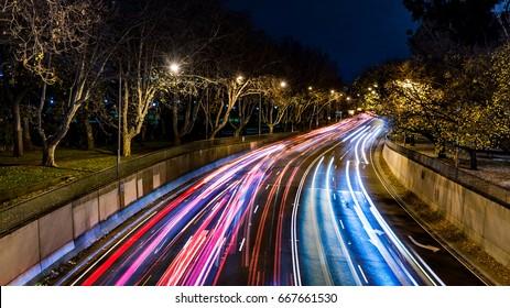 Traffic light streak