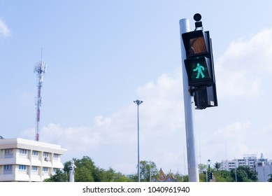 Traffic light.green light is safe