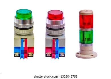 Traffic lights on a white background