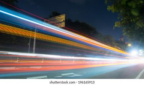 The traffic at night