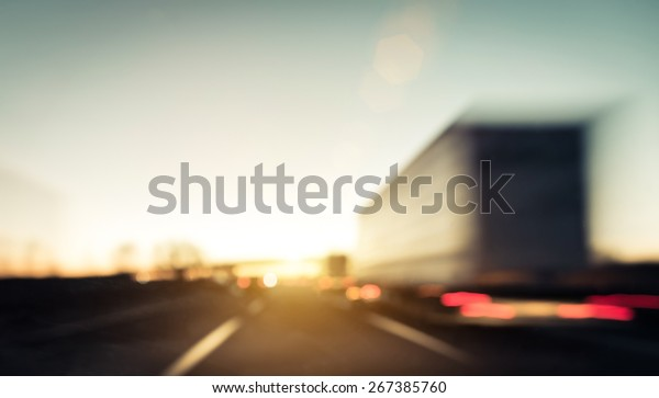 Traffic on the highway. blurred image background. concept about transportation