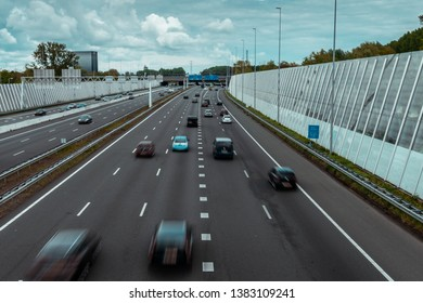 Traffic on the highway, Ring east A10, 04/28/2019 Amsterdam the Netherlands