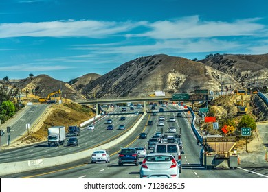 Traffic on Pacific Coast Highway. California, USA