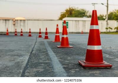 Traffic orange cone