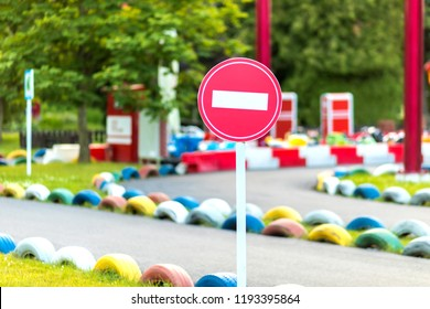 Traffic playground. Educational place for kids to learn about road safety and traffic rules