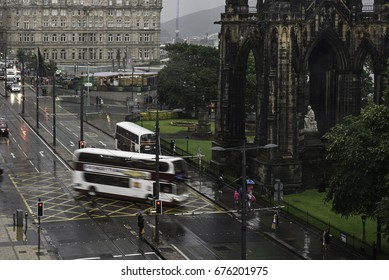 traffic in Princes Street, Edinburgh