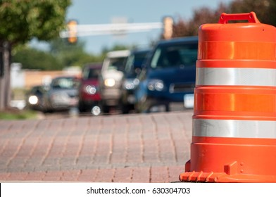 traffic pylons or safety cones