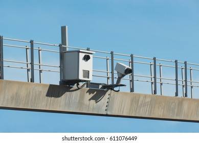 Traffic radar used to take pictures in speed enforcement. Automatic number plate recognition used for the detection of average speeds. Motion blur