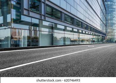 traffic road through modern city in Shanghai, China.