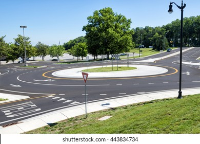 Traffic Roundabout Intersection